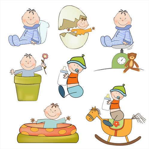 cartoon baby clipart cute design