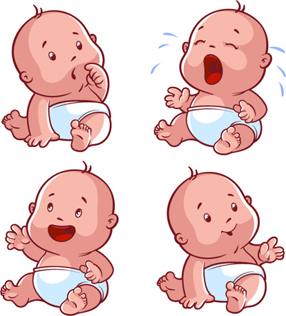 Cartoon Baby Cute Design Vector Free Vector In Encapsulated Postscript Eps Eps Vector Illustration Graphic Art Design Format Format For Free Download 307 15kb