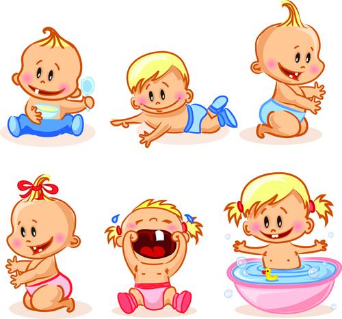 cartoon baby funny vector