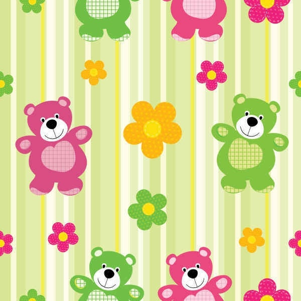 Cartoon Bear Pattern Vector Background Free Vector In Encapsulated