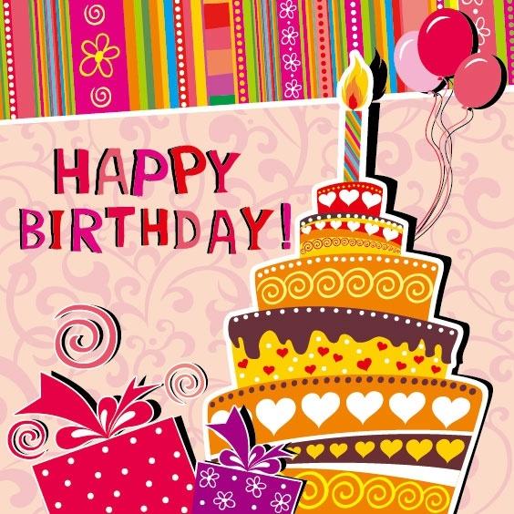 cartoon birthday card 03 vector