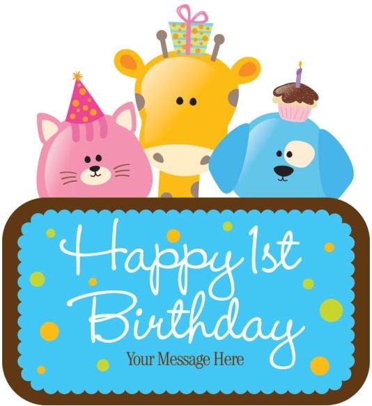 cartoon birthday cards 03 vector