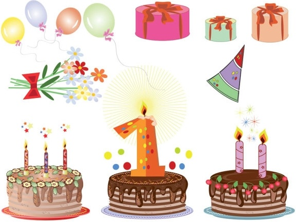cartoon birthday cards 04 vector