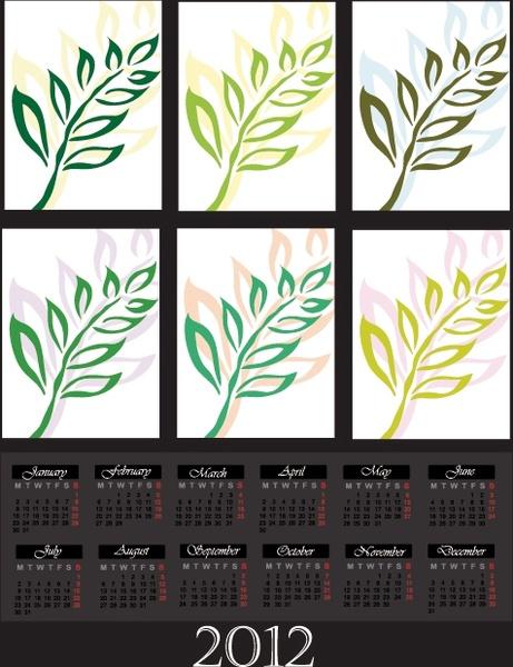 cartoon branches calendar 03 vector