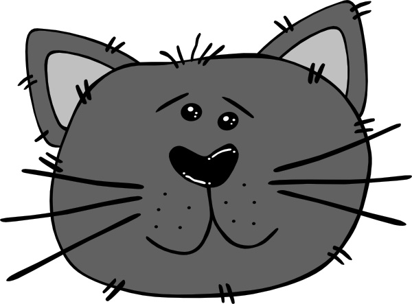cartoon cat face clip art free vector in open office drawing svg rh all free download com black cat face clip art cat face clip art outline