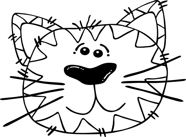 Cartoon Cat Face Outline Clip Art Free Vector In Open Office Drawing