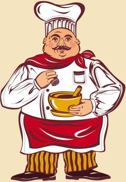cartoon characters chef 03 vector