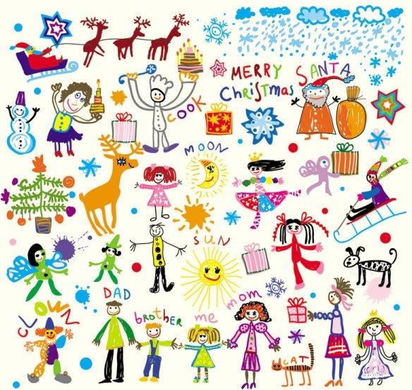 cartoon children39s illustrator 03 vector