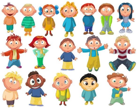 cartoon children 03 vector