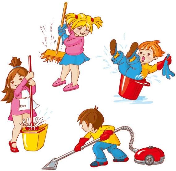cartoon children 04 vector