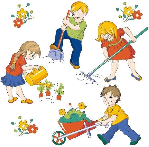 cartoon children 05 vector