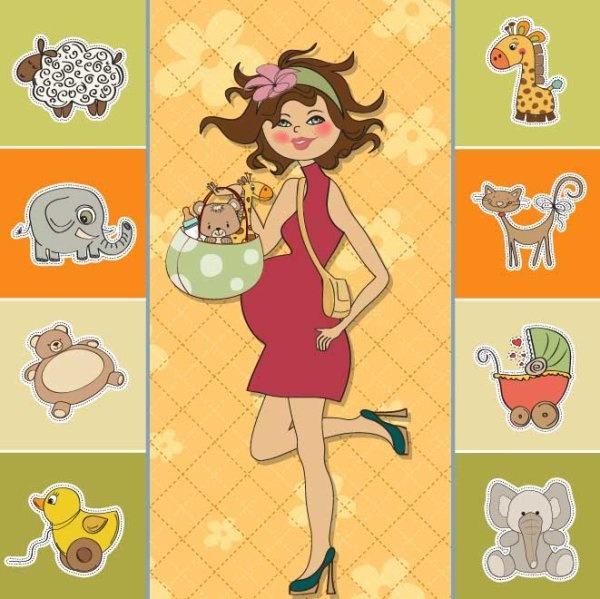 cartoon children cards design vector