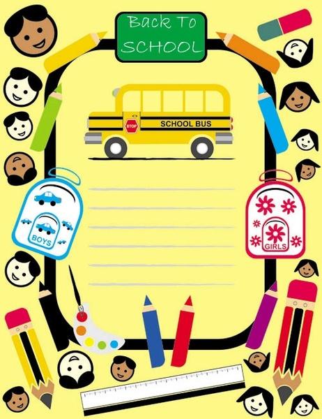 cartoon children drawings vector