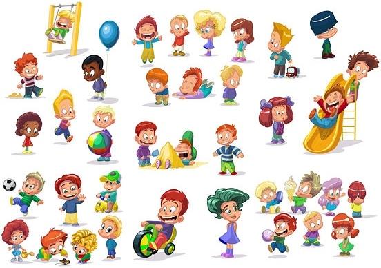 Cartoon Children Vector Free Vector In Encapsulated Postscript Eps