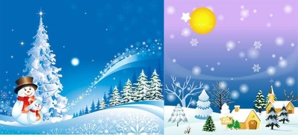 cartoon christmas background vector