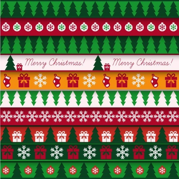cartoon christmas pattern seamless vector
