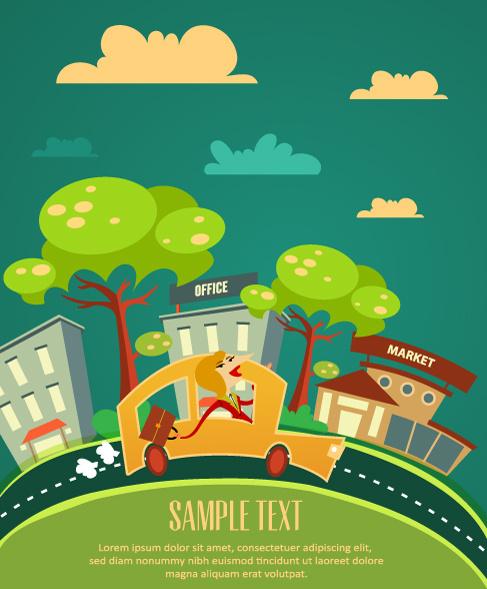 Cartoon city street free vector download (17,849 Free ...