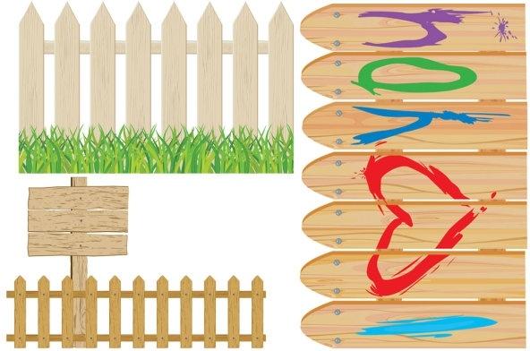 cartoon clip art fence