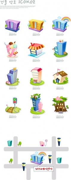 cartoon clip art house map