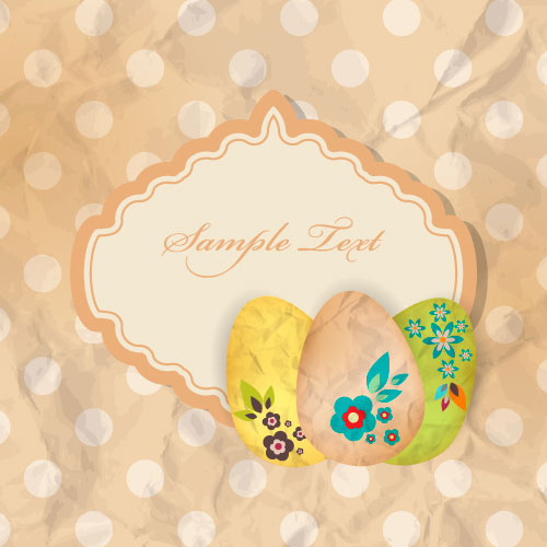 cartoon color eggs illustration background vector
