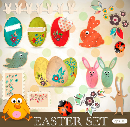 cartoon color eggs illustration background vector