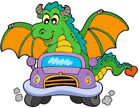 cartoon dragon 01 vector