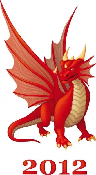 cartoon dragon 02 vector