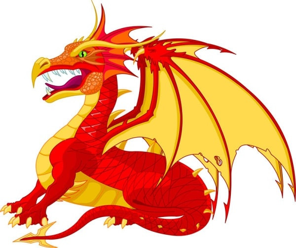 cartoon dragon 03 vector