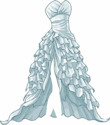 Cartoon evening dress fashion vector illustration Free vector in ...