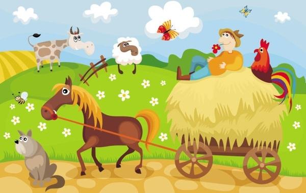 cartoon farm 05 vector