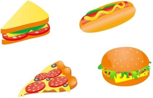 cartoon fast food 03 vector