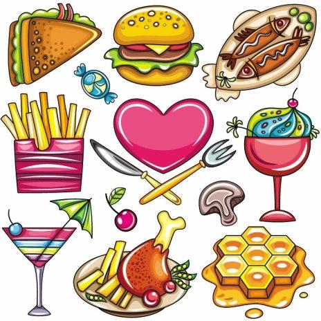 cartoon food 01 vector