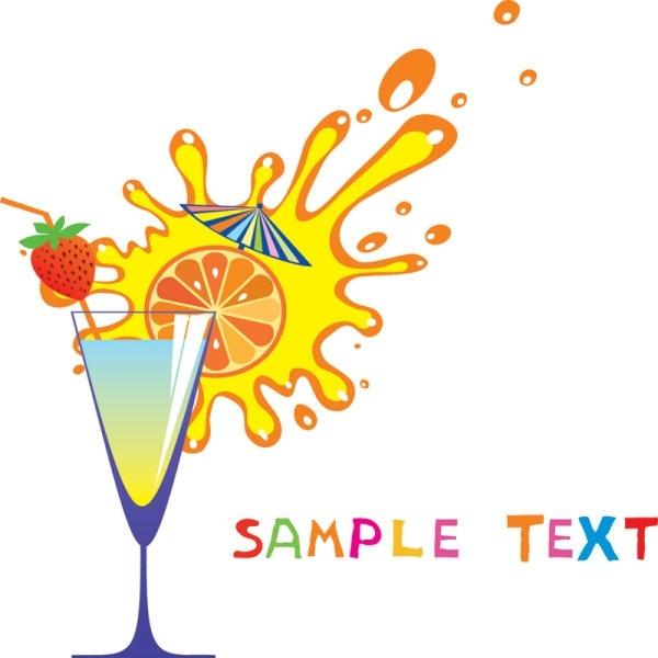 Cartoon Glass Of Orange