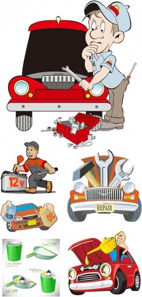 cartoon illustration vector repair