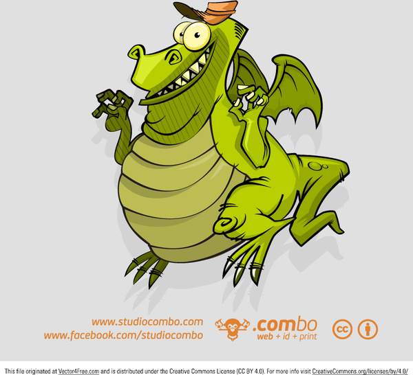 cartoon lizard vector