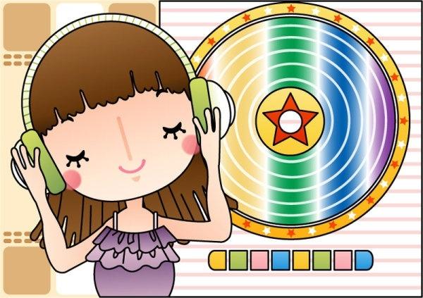 cartoon music illustrator 02 vector