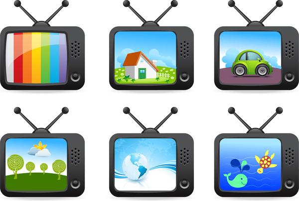 cartoon old television set