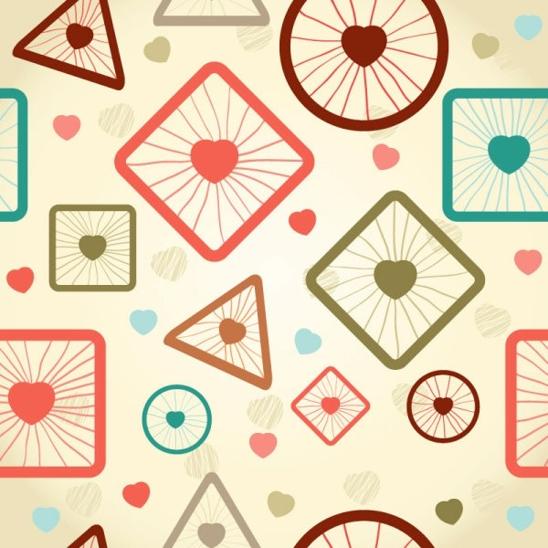 cartoon pattern background 03 vector