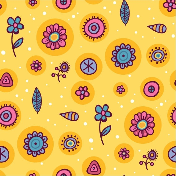 cartoon pattern background 05 vector