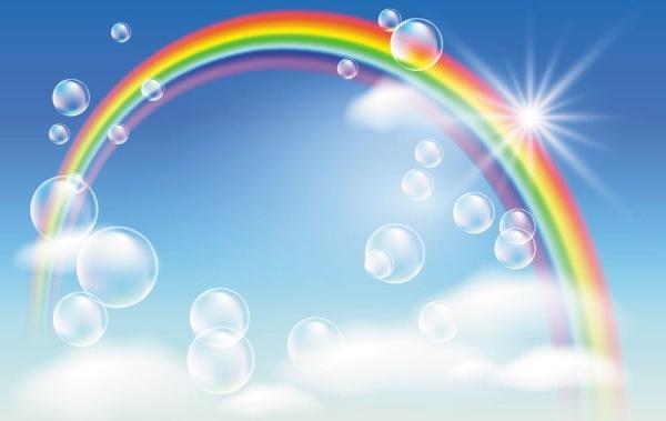 cartoon rainbow 04 vector
