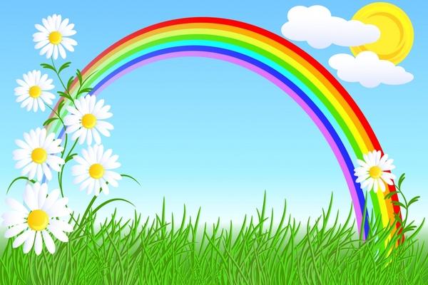 Cartoon rainbow wallpaper free vector download (19,655 ...