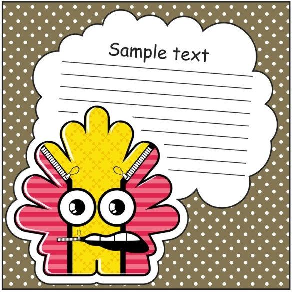 cartoon stickers background 03 vector