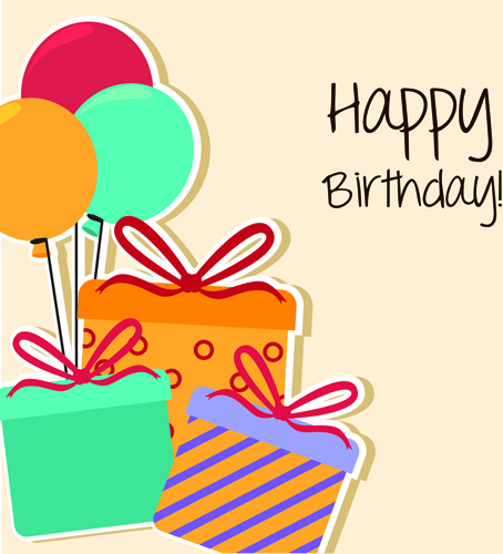 Cartoon style happy birthday greeting card template Free vector in ...