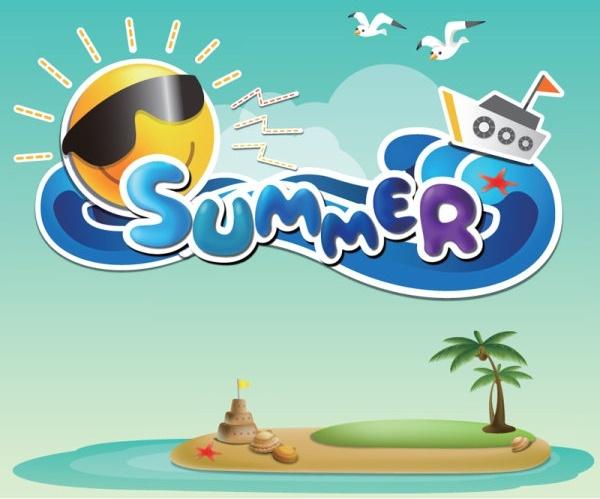 cartoon summer pictures 01 vector