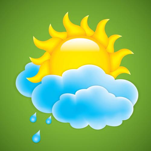 cartoon summer sun vector background