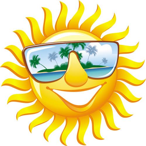 cartoon sun smile face vector design free vector in encapsulated rh all free download com Cartoon Sun with Face Sun Clip Art