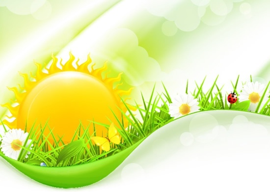 nature background colorful modern shiny floral grass decor