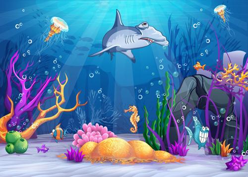 Cartoon Underwater World Vectors Free Vector In Adobe Illustrator Ai Ai Vector Illustration Graphic Art Design Format Encapsulated Postscript Eps Eps Vector Illustration Graphic Art Design Format Format