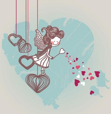 cartoon valentine illustrator 01 vector