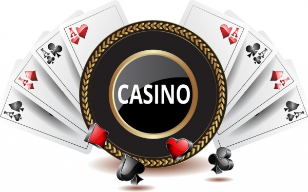 casino background shiny 3d decoration cards icons